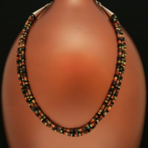 3 strand heishi necklace by H & J Chavez