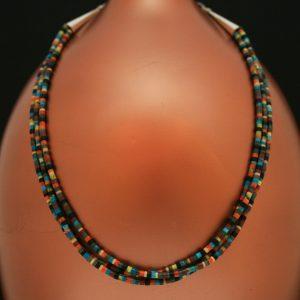 Multicoloured necklace by H & J Chavez
