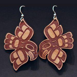 Eagle earrings by Crystal Worl