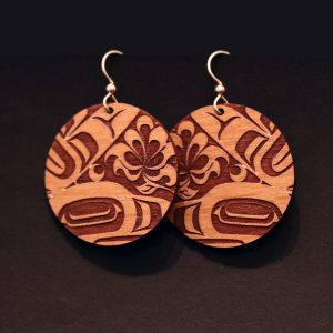 Blueberry earrings by Crystal Wor