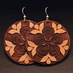Athabascan earrings by Crystal Worl