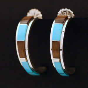 Hoop earrings by Duran Gasper, Zuni