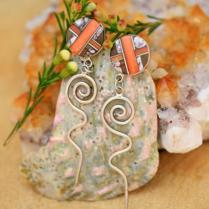 Zuni inlay earrings by Duran Gasper