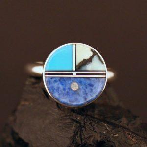 Zuni Sun face ring by Duran Gasper