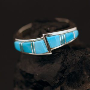 Turquoise ring by Duran Gasper, Zuni