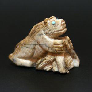 Bear (Anshe) fetish carving by Destry Sintza