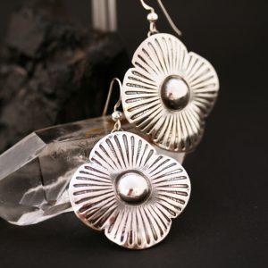 Flower earrings by Jennifer Medina