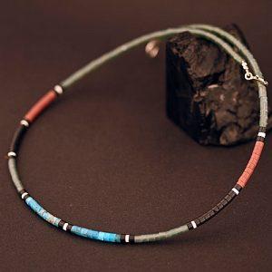 Heishi bead necklace