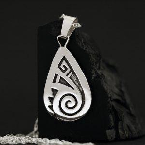 Drop pendant by Anthony Honahnie, Hopi
