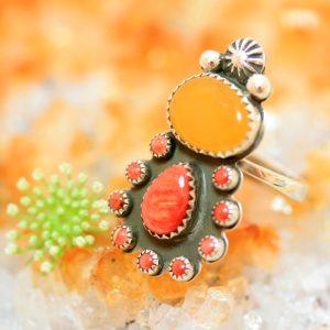 Honey Amber ring by Joshua Concha