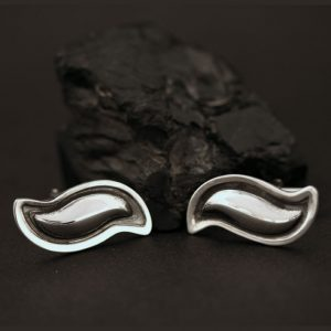 Silver cufflinks by Jennifer Medina