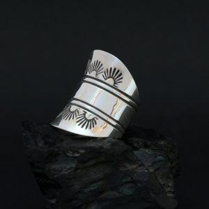 Silver saddle ring by Jennifer Medina