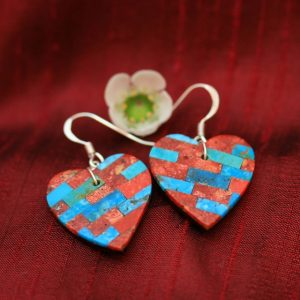 Heart earrings by Stephanie Medina