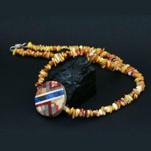 Pueblo mosaic necklace by Stephanie Medina
