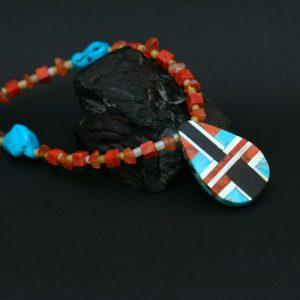 Reversible necklace by Stephanie Medina