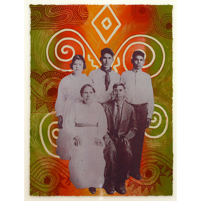 Choctaw Bond Family IIII by Linda Lomahaftewa Native American Portraiture
