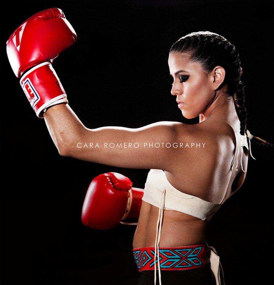 cara romero boxing photography