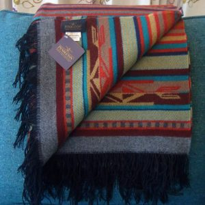 Chimayo fringed wool throw, Pendleton