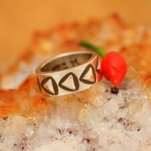 Sterling silver ring by Cody Sanderson