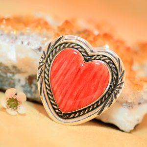 Heart brooch by Harvey Chavez