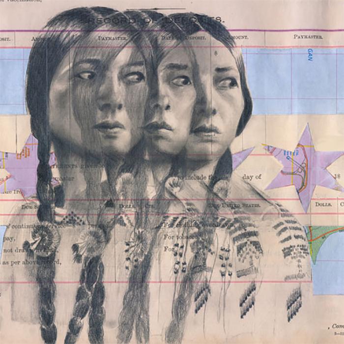 Te Ata's Vision by Chris Pappan