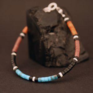 Heishi bead bracelet by H & J Chavez