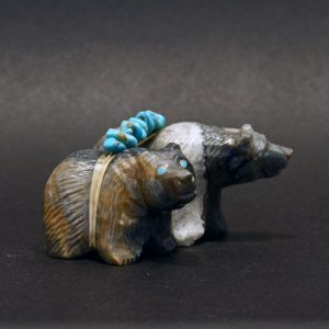 Zuni fetish Bears by Paulette and Farlan Quam