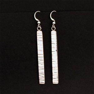 Hammered silver earrings by Jennifer Medina