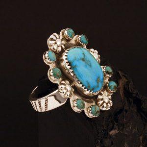 Lone Mountain turquoise ring by Joshua Concha