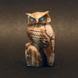 Owl fetish carving by Arvella Cheama