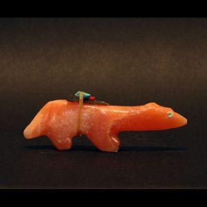 Orange wolf fetish by Jimmy Yawakia