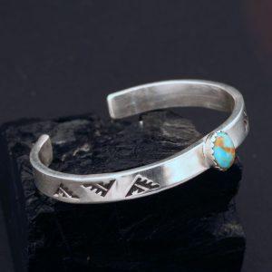 Turquoise baby bracelet by Janie Chavez