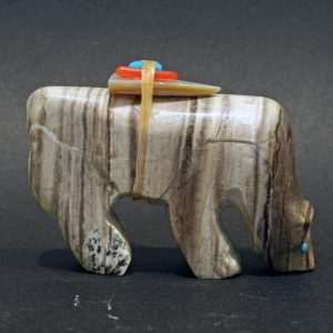Zuni Bear fetish by Jimmy Yawakia