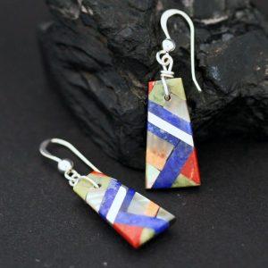 Colourful earrings by Stephanie Medina