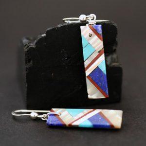 Lightning design earrings by Stephanie Medina