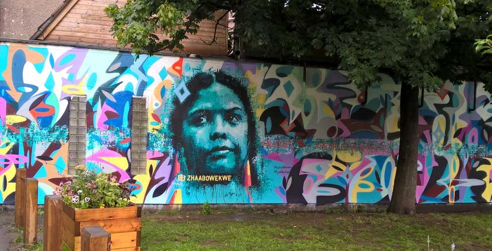 Upfest mural by Guy Denning & Yatika Fields 2017