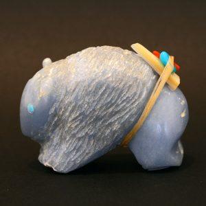 Angelite Buffalo by Jimmy Yawakia
