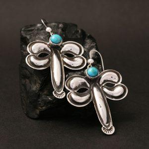 Dragonfly earrings by Jennifer Medina