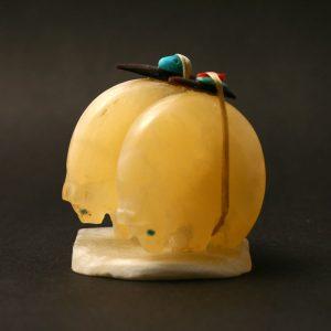 Honey calcite bears by Jimmy Yawakia