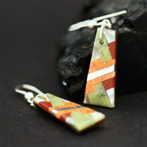 Inlay earrings by Stephanie Medina