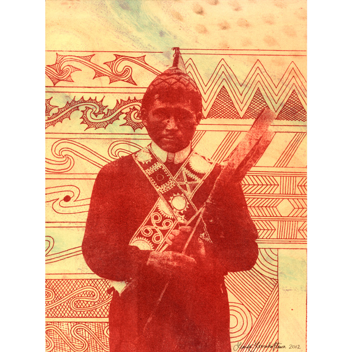 Choctaw Messenger by Linda Lomahaftewa for Messengers 2012 exhibition.