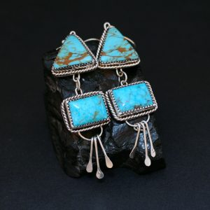 Kingman Turquoise earrings by Annalisa Martinez