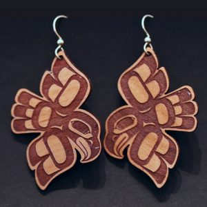 Eagle earrings by Crystal Worl