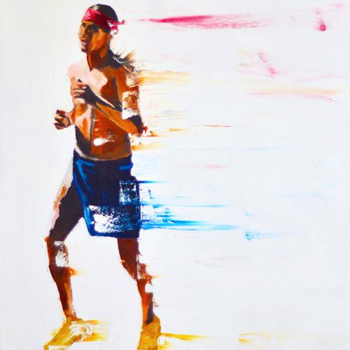 Del Curfman painting