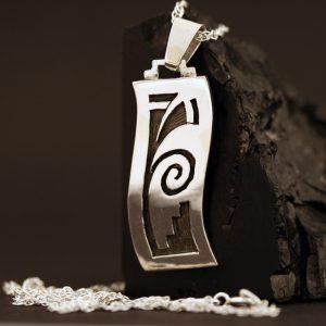 Overlay pendant by Anthony Honahnie