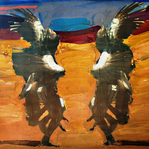 Mateo Romero painting
