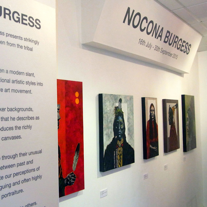 Nocona Burgess solo exhibition at Rainmaker Gallery in Bristol
