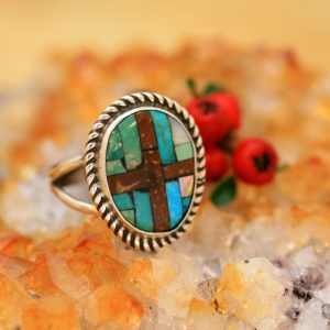 Mosaic ring by Joe & Angie Reano