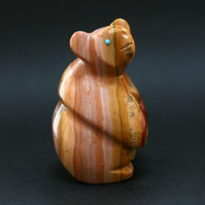 Zuni Fetish Standing bear by Vernon Lunasee