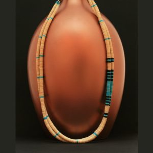 Melon shell necklace by F & D Chavez